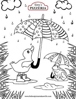 March 2021 Spring Coloring Page