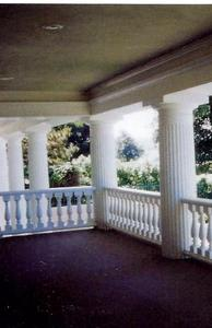 Large custom fluted columns and balustrades
