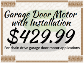 Local garage door repair coupons