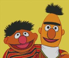 Cross Stitch Pattern Chart of Muppets Bert and Ernie