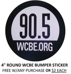 WCBE Bumper Sticker