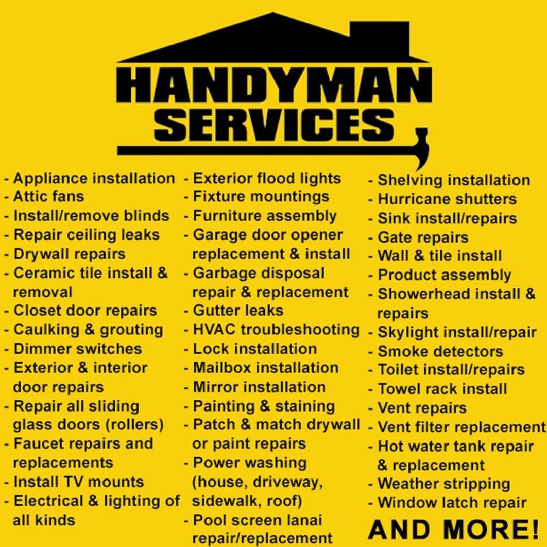 ​Best Handyman Sullivan City TX McAllen Handyman Building Property Maintenance Services Sullivan City TX McAllen TX RGV Household Services