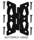 Butterfly Hinge Hardware - Western Red Cedar Wood Fencing Company In Chicago