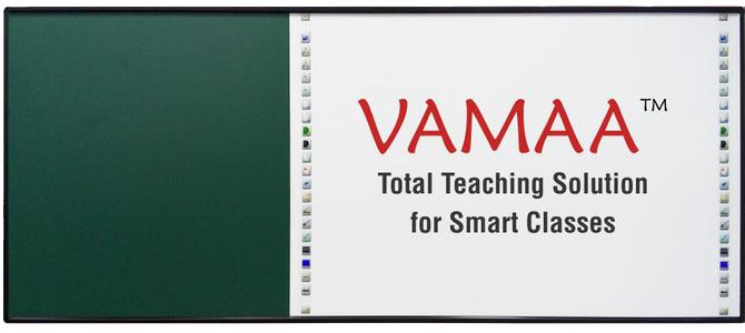Interactive Whiteboard with Green Board|smart class