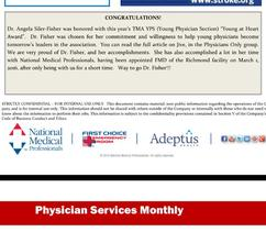 Physician Services Monthly: Young at Heart Award
