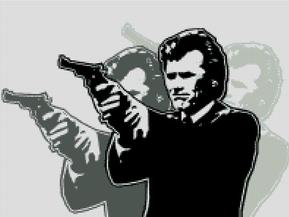 Clint Eastwood Dirty Harry Cross Stitch Chart Pattern