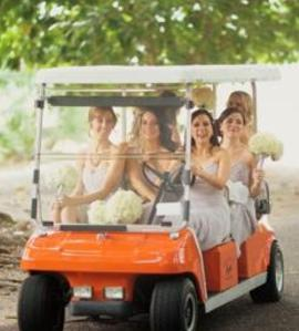 Your bridal transportation at Boca Grande