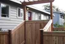 A great cedar wood fence built by All American Fence company and contractor