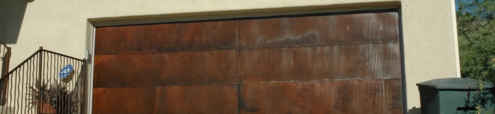 rustic garage doorsCopper Garage Doors Gilbert AZ  Rustic Garage Doors