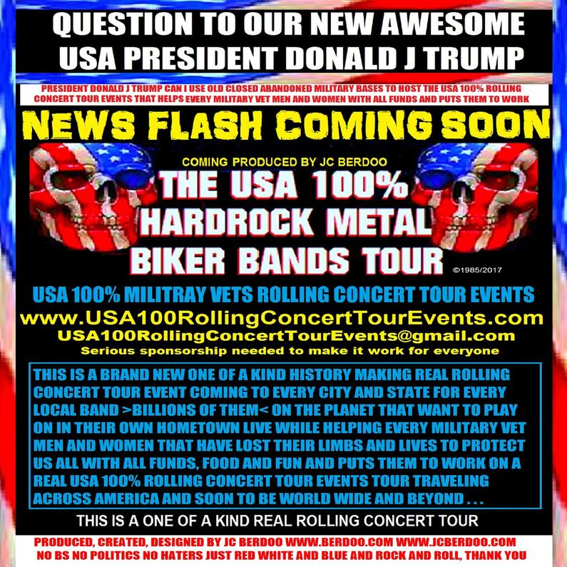 USA 100% ROLLING CONCERT TOUR EVENTS