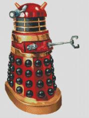Doctor Who REd and Gold Dalek