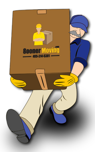 Sooner Moving Company in Oklahoma Professional Mover Carrying a Box