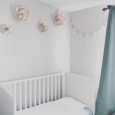 Cream and Blush Paper Rose Decor, Cream and Blush Paper Flowers, Nursery Flower Wall