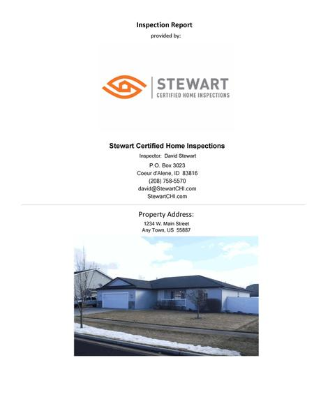 Sample Report ::: Stewart Certified Home Inspections