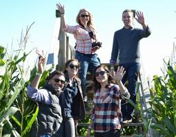 Picture of Guests on the Wooden Bridge entering the corn maze