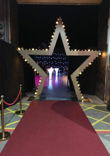 Giant Star Arch Entranceway Prop Hire Hollywood Awards Ceremony