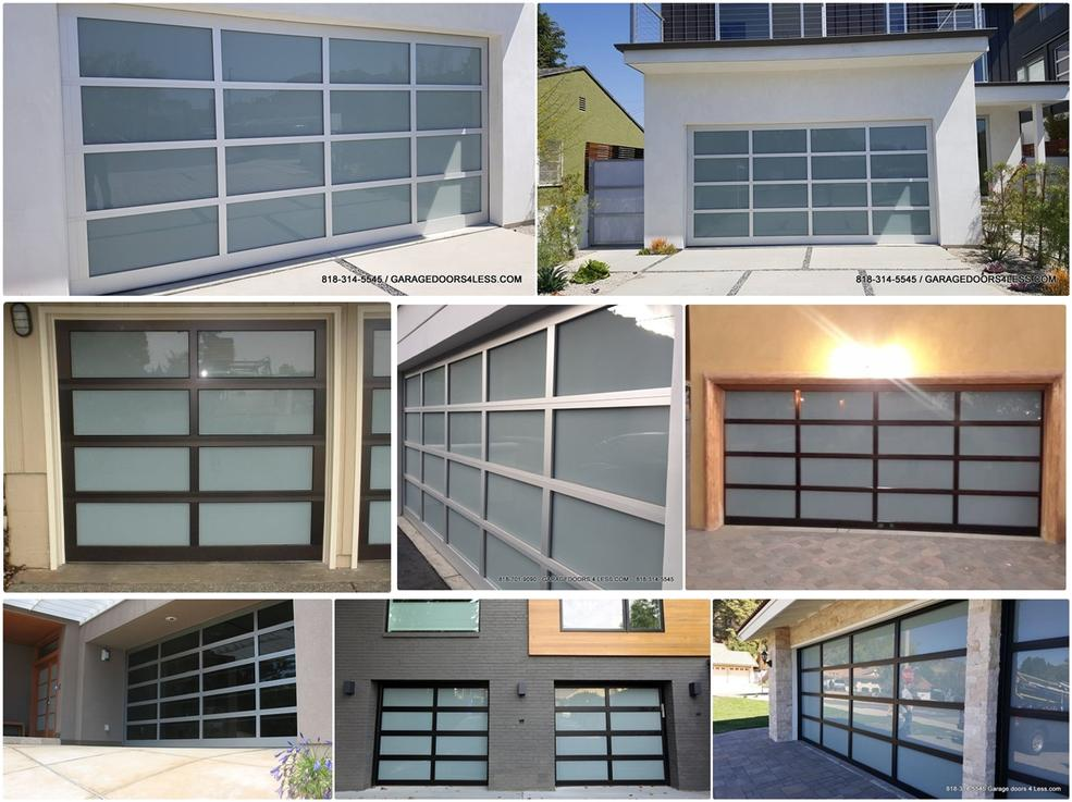 Aluminum Glass Garage Doors In Winnetka In Northridge Modern Glass