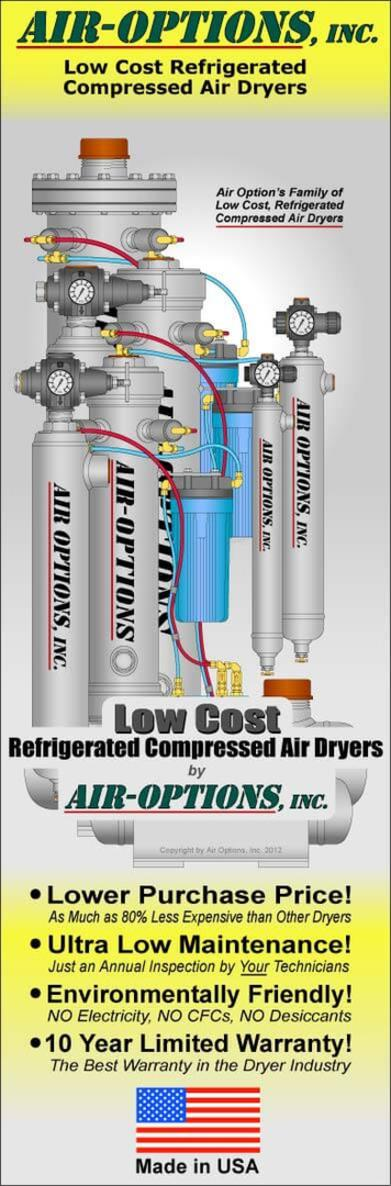 Air Compressor Tips on a variety of Compressed Air Topics from Air Options, Inc.