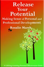 Image of jacket front. Release Your Potential. Orange and green Two trees -learning