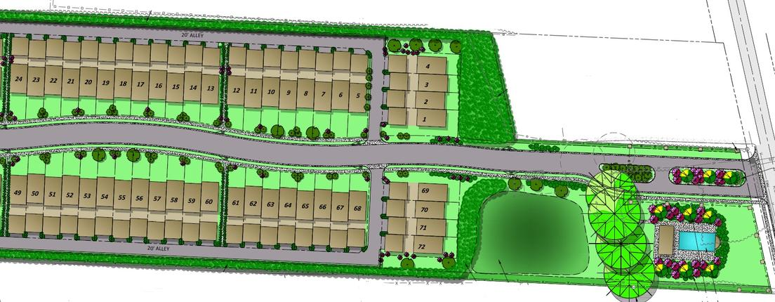 Blueprint Image Of A Gated Community In Tuscaloosa, AL - Pinnacle Park at Northriver