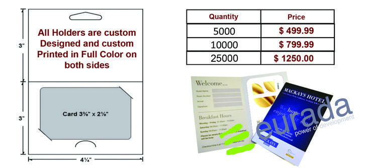 Eurada Print Provides ONLY Premium Hotel Business Cards with FREE back side Print and FREE UV Coatings