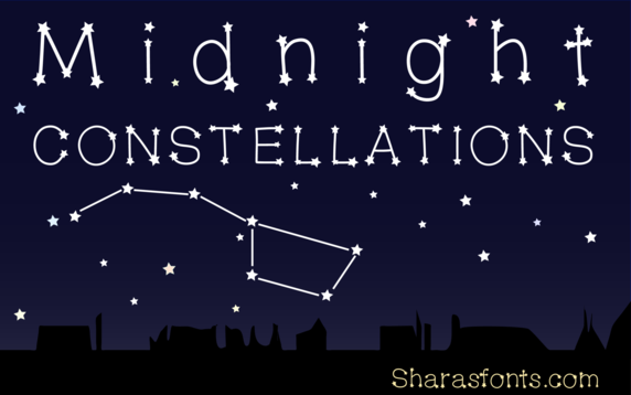 Midnight Constellations font