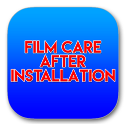 Film Care After Installation Solar Graphics logo button picture image