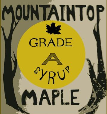 Label for Mountaintop Maple Grade A Syrup