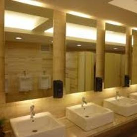 commercial mirror bathrooms