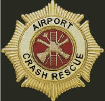 Cross Stitch Chart of Airport Crash Rescue Fire Service Star