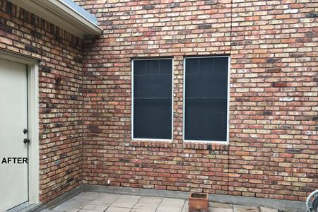 Brick house wash exterior job in Spring Texas after