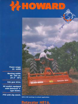 Howard Rotavator Model HR16 Brochure