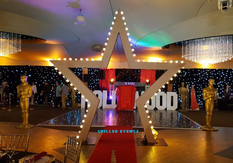 Giant Star Arch Hire | Hollywood Film Themed Event Prop Hire