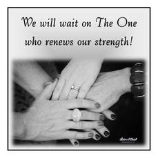 We will wait on the one who renews our strength