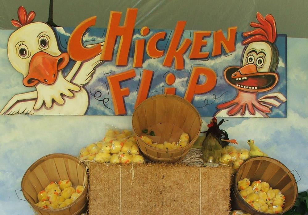 Nashville TN Carnival Games for Company Picnics and Corporate Themed Events - Chicken Flip Game