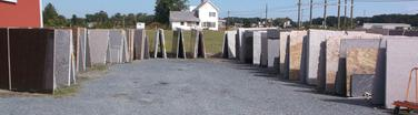 Full Slabs of Granite available to hand tag in Greenwood Delaware at Counterparts LLC.