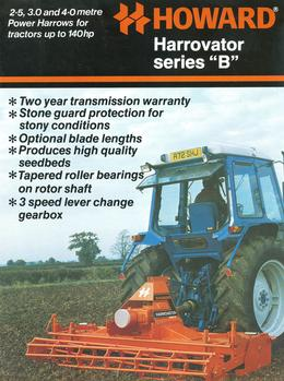"Howard Harrovator Series ""B"" Brochure"