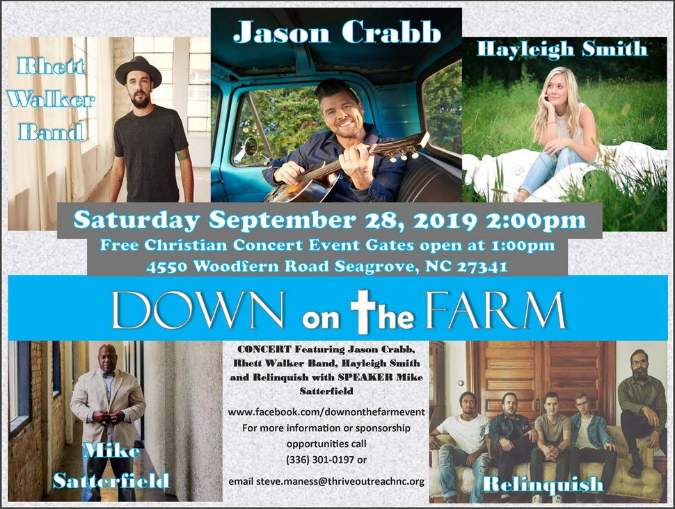 Flyer for Down on the Farm 2018