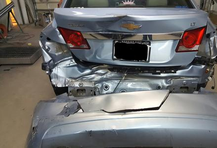2011 Chevrolet Cruze hit in the rear