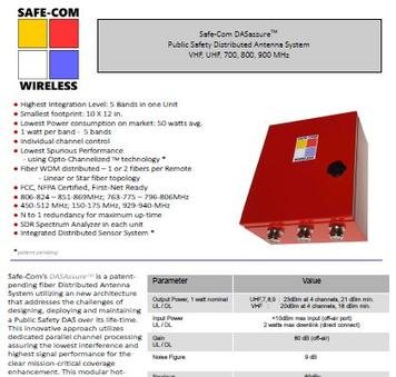 Safe-Com Wireless SAFE-1000 Data Sheet Rev 4-5-17