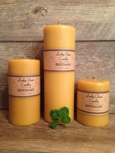pure canadian beeswax candles hand made in ontario