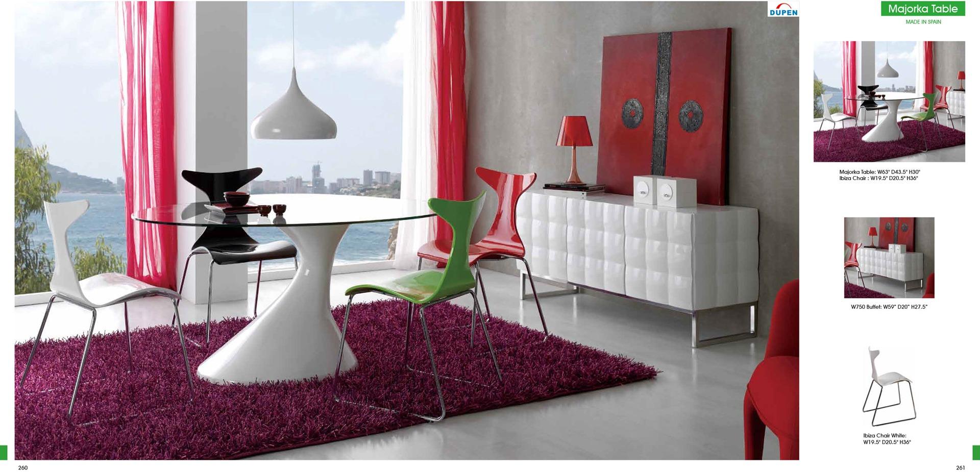Dining Room Furniture Sets Arte Interiors Chicago Furniture - Colorful modern dining room