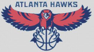 Atlanta Hawks Cross Stitch Cahrt Pattern