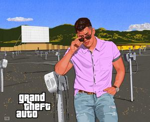 GRAND THEFT AUTO at the Drive In Movie (Jared Tang) by CLIFF CARSON
