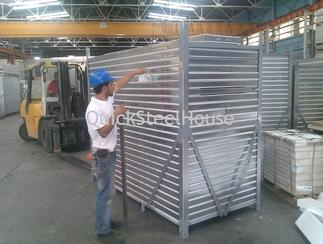 Ready wall panels of the prefab steel houses