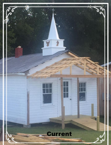 The steeple was built by Joseph Kimbrell and was installed by his wife Heather and their children on 9/1/2018