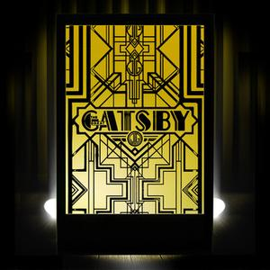 Gatsby Silhouette Panel Light Box Event Prop Hire
