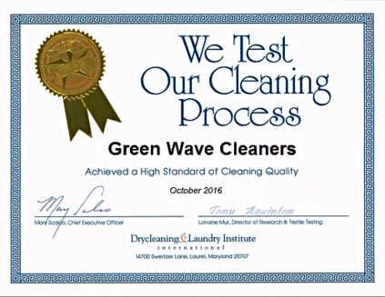 tested and given highest cleaning award