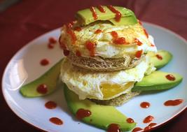 Egg and Avocado Toast Stack