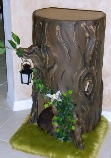 Unique Dog Tree Stump Bed